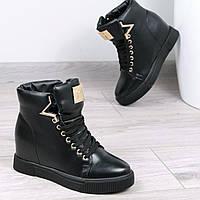 Ботинки женские Kylie на меху черные размер  41, зимняя обувь