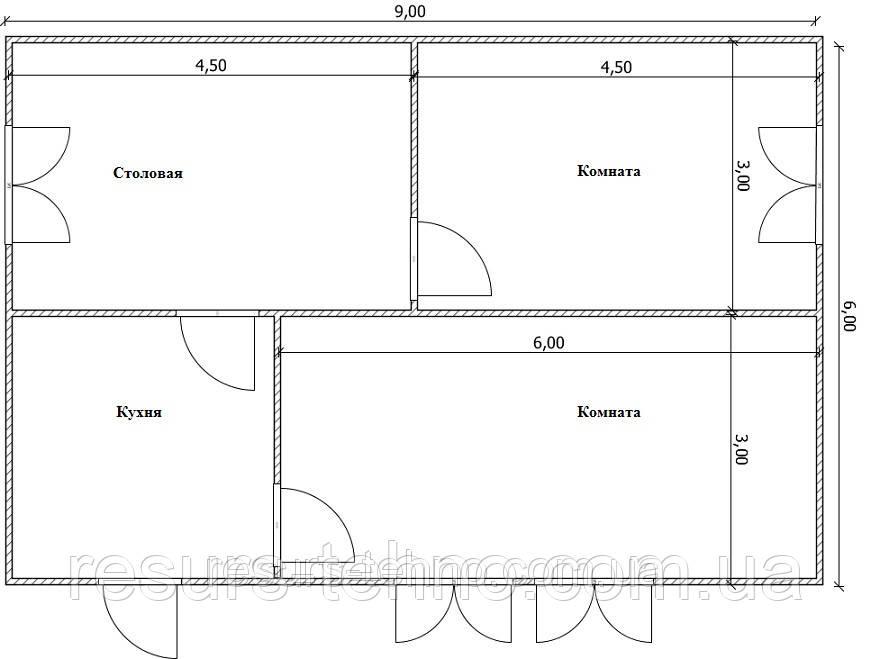 Проекты домов с мансардой Вариант №8