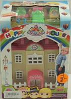 Игровой кукольный Домик раскладной с фигурками и мебелью