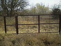 Калитка с сетки рабицы, фото 1