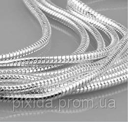 Цепочка 1мм покрытие 925 серебро проба разная длина