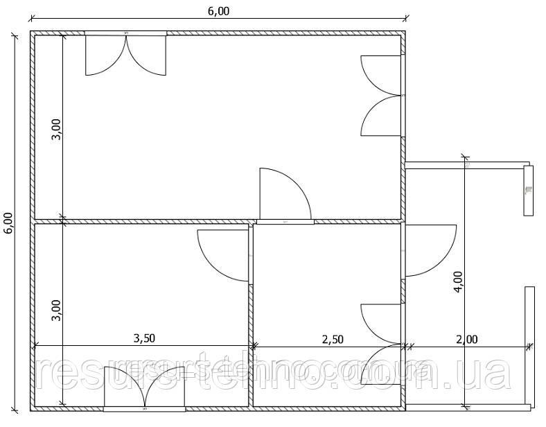 Проекты домов под ключ Вариант №10