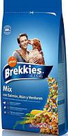 Brekkies Dog Salmon and Vegetables 20кг-корм для собак с лососем и овощами