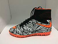 Сороконожки Nike черно-оранжевые