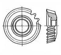 Долбяк модульный дисковый М2 Z=50 α=20˚ P6М5К Кл В Dd 100