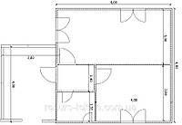 Дом 6м х 6м с терассой 3м х 4м