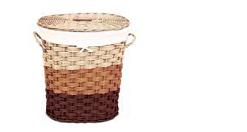 Плетеная корзина трехцветная отличный декор для ванной