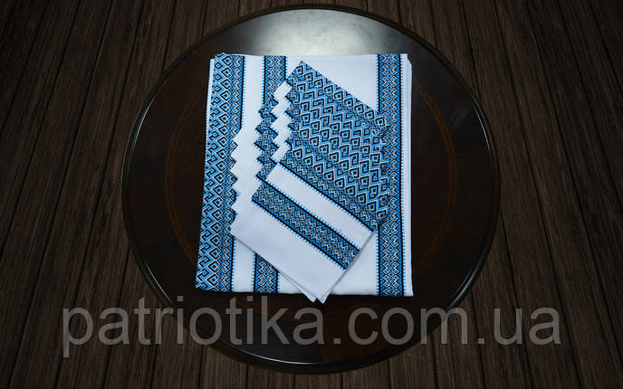 Комплект столовый синий | Комплект столовий синій 120х140, фото 2