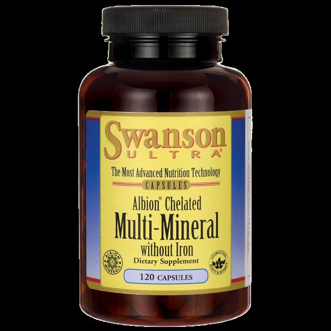 Минералы мульти-минералы полный состав в хелатной форме без железа 120 капс