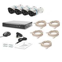 Комплект видеонаблюдения Tecsar IP 4OUT LUX