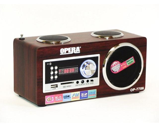 Радиоприемник - портативная акустика Opera OP-7706  f
