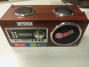 Радиоприемник - портативная акустика Opera OP-7706  f, фото 2