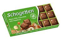 Шоколад Shogetten Alpine Milk with Hazelnuts (Шогеттен альпийское молоко с лесным орехом) 100 г. Германия