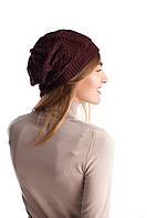Модная женская ажурная двойная шапка