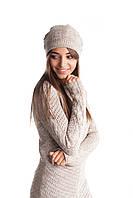 Стильная женская ажурная двойная шапка