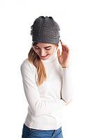 Качественная женская ажурная двойная шапка