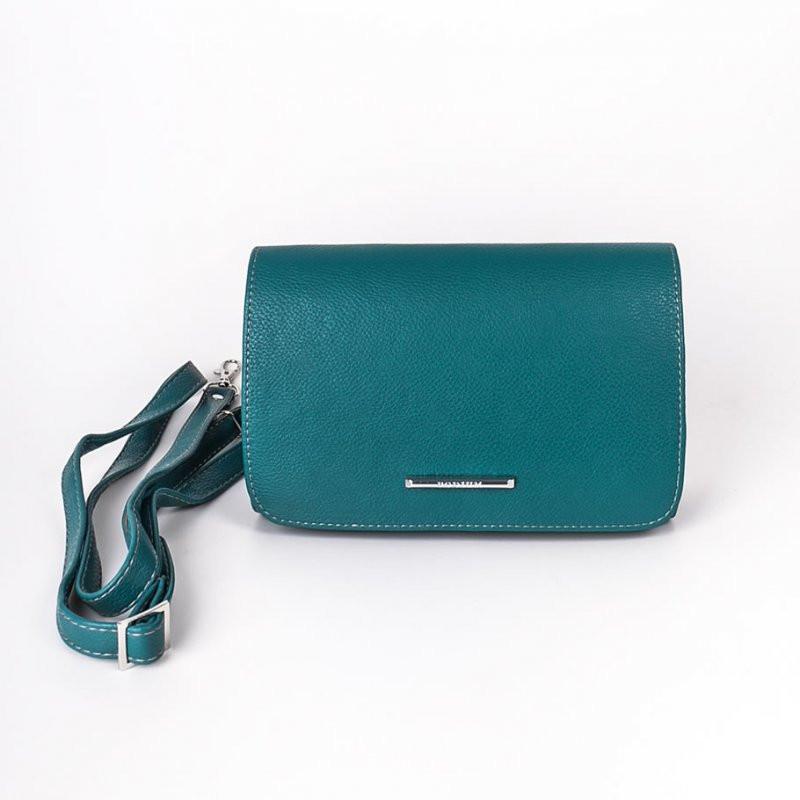 40f988e15523 Клатч бирюзовый овальный с клапаном и ремешком - Интернет магазин сумок  SUMKOFF - женские и мужские