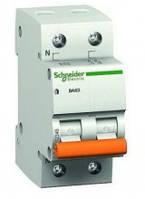 Автоматический выключатель 2пол_SCHNEIDER_BA63 1P+n 63A C