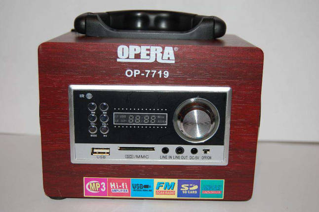 Радиоприемник — портативная акустика Opera OP-7719  f, фото 2