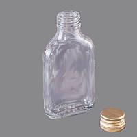 Бутылка стеклянная 100 мл фляга