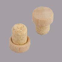Т пробка 19 мм агломерат капсула деревянная