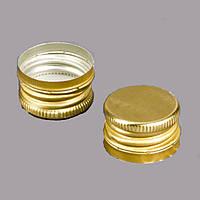 Колпачок алюминиевый 28*18 золото