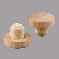 Т пробка 23 мм агломерат капсула деревянная