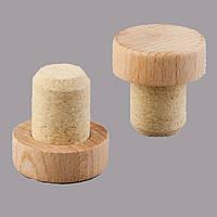 Т пробка 24,5 мм микроагломерат капсула деревянная