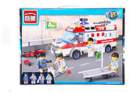 Конструктор brick 1118  Скорая помощь 328 деталей в коробке