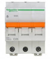 Автоматический выключатель 3пол_SCHNEIDER_BA63 3P 32A C