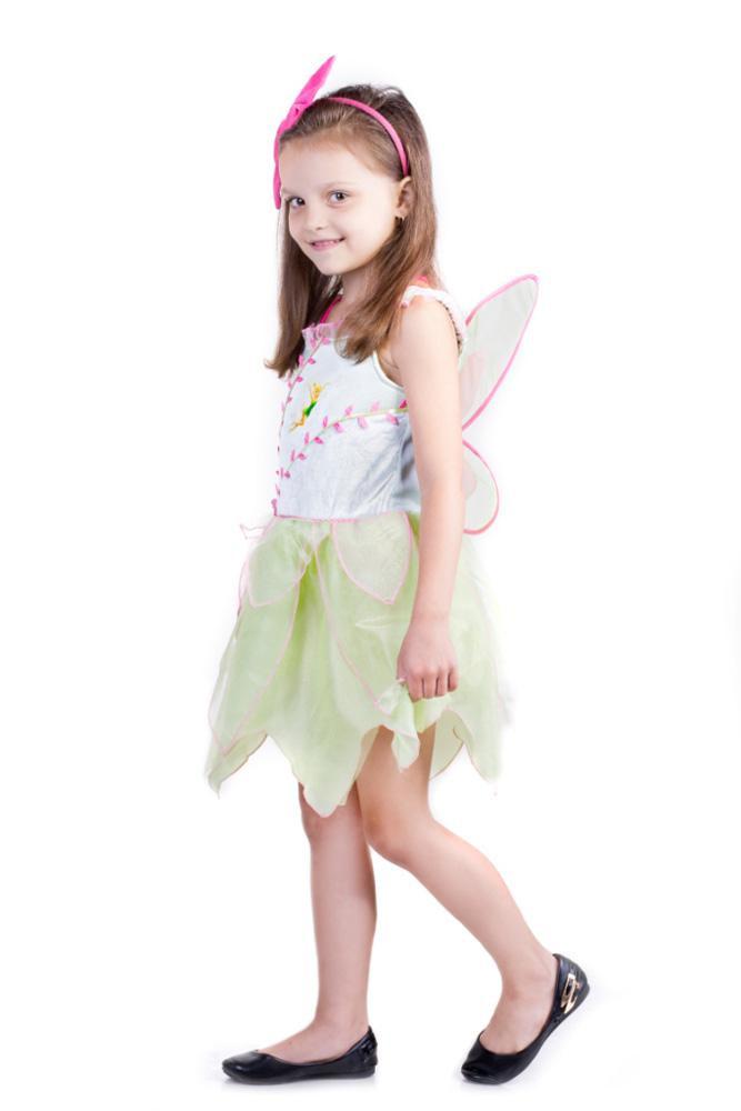Карнавальный костюм Фея Тинкербелл светящийся с крыльями