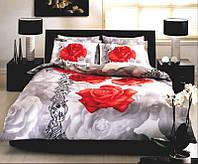 Полуторный комплект постельного белья TAC, сатин Rosella, Турция