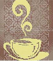 Схема для вышивки бисером Чашечка чая в орнаменте