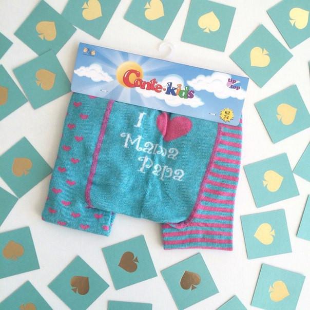 Разноцветные детские колготки Conte kids  TIP-TOP «Веселые ножки» 355, р. 92-98, 72% хлопок