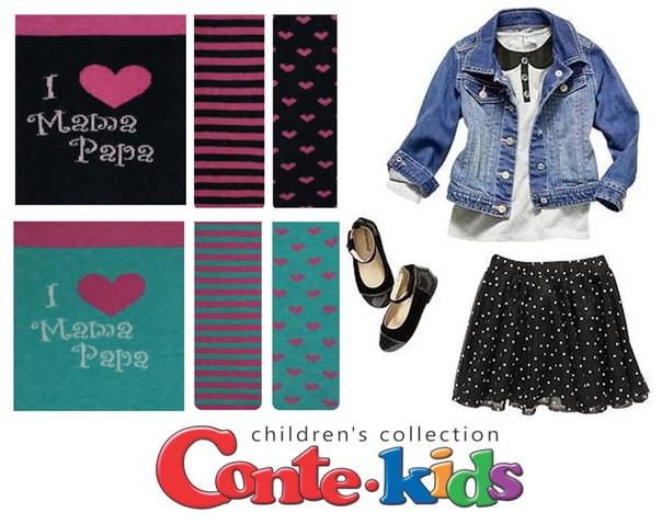 Разноцветные детские колготки Conte kids  TIP-TOP «Веселые ножки» 355, р. 104-110, 72% хлопок
