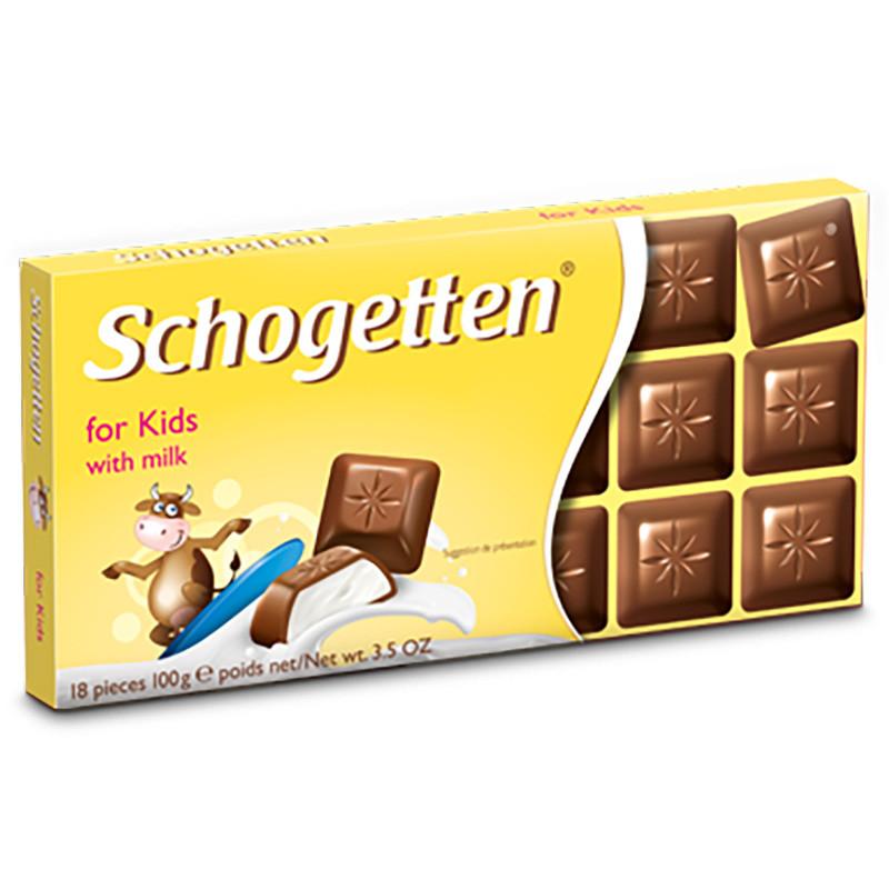 Шоколад Shogetten for Kids with milk (Шогеттен молочный детский) 100 г. Германия