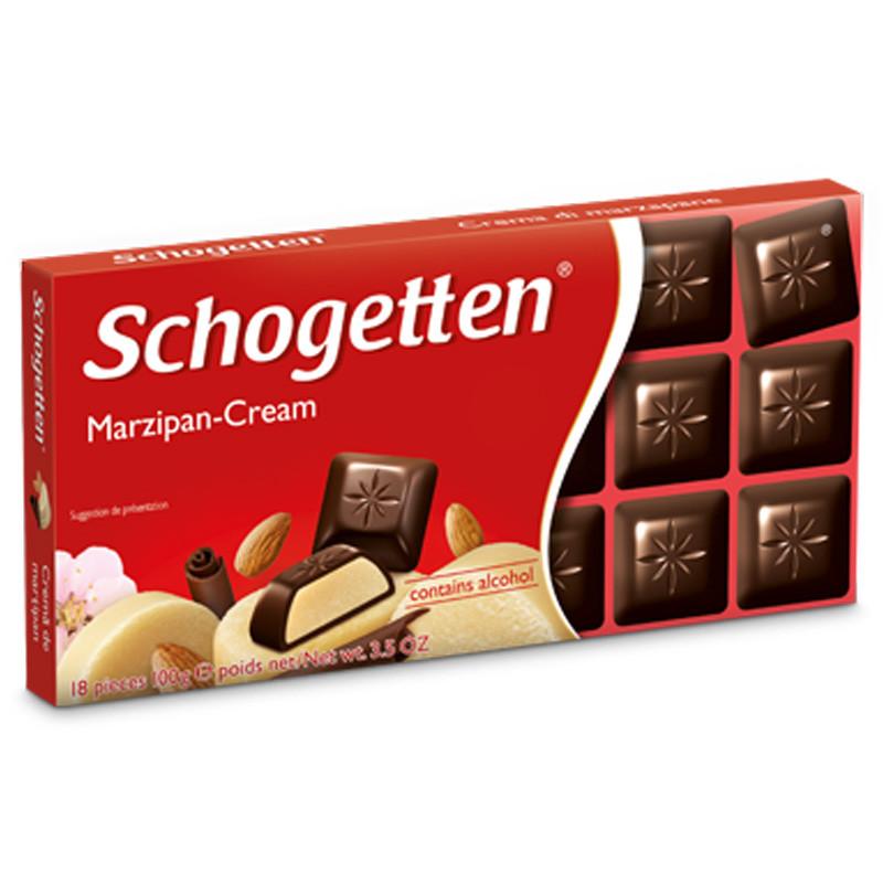 Шоколад Shogetten Marzipan - Cream (Шогеттен черный с марцепаном) 100 г. Германия