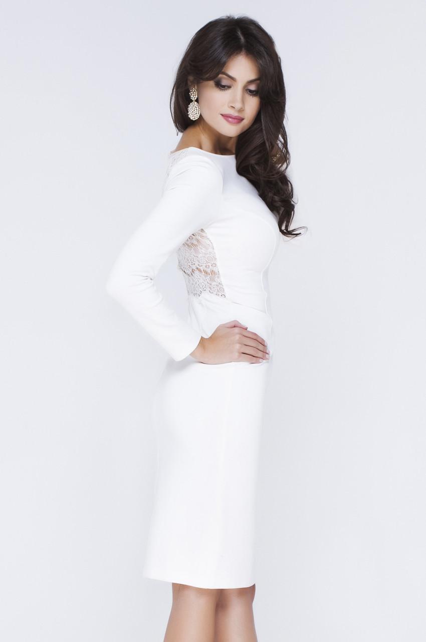 6cf41a13838 Купить Белое нарядное платье Lusien Р 73 в Киеве от компании ...