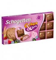 Шоколад Shogetten (Шогеттен с йогуртовой начинкой, лес. ягодами и кусочками печенья) 100 г. Германия
