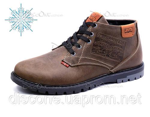 Зимние ботинки Levi's мужские, коричневые, натуральная кожа
