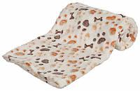 Коврик Trixie Lingo Blanket флисовый, бежевый с принтом, 75х50 см, фото 1