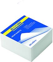 Папір для нотаток білий BUROMAX JOBMAX 2206 80X80X20мм, 220-250 аркушів склеєний