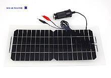 Солнечная панель 5,5 Вт 18 В ( облегченная ) с USB 5 Вольтовым зарядным и кабелями для зарядки 12 В АКБ