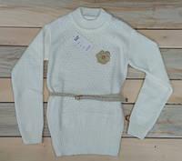 Теплая кофта вязка на девочку с ремешком 10-11 лет, 11-12 лет, 12-13 лет