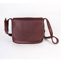 Бордовая сумка через плечо М52-38 женская среднего размера вместительная легкая популярная