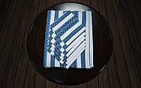 Комплект столовый синий | Комплект столовий синій 190х140