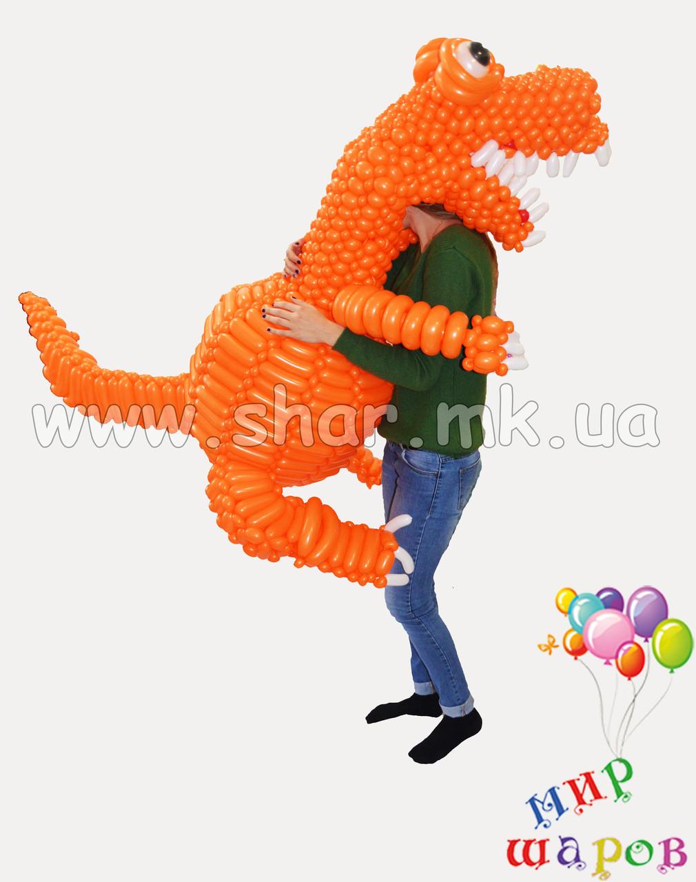 Динозаврик из воздушных шаров