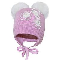 Зимняя шапка для девочки арт 16302