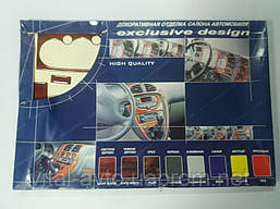 Автомобильный декор салона Chevrolet Aveo з 2004г.  декор цвета дерево