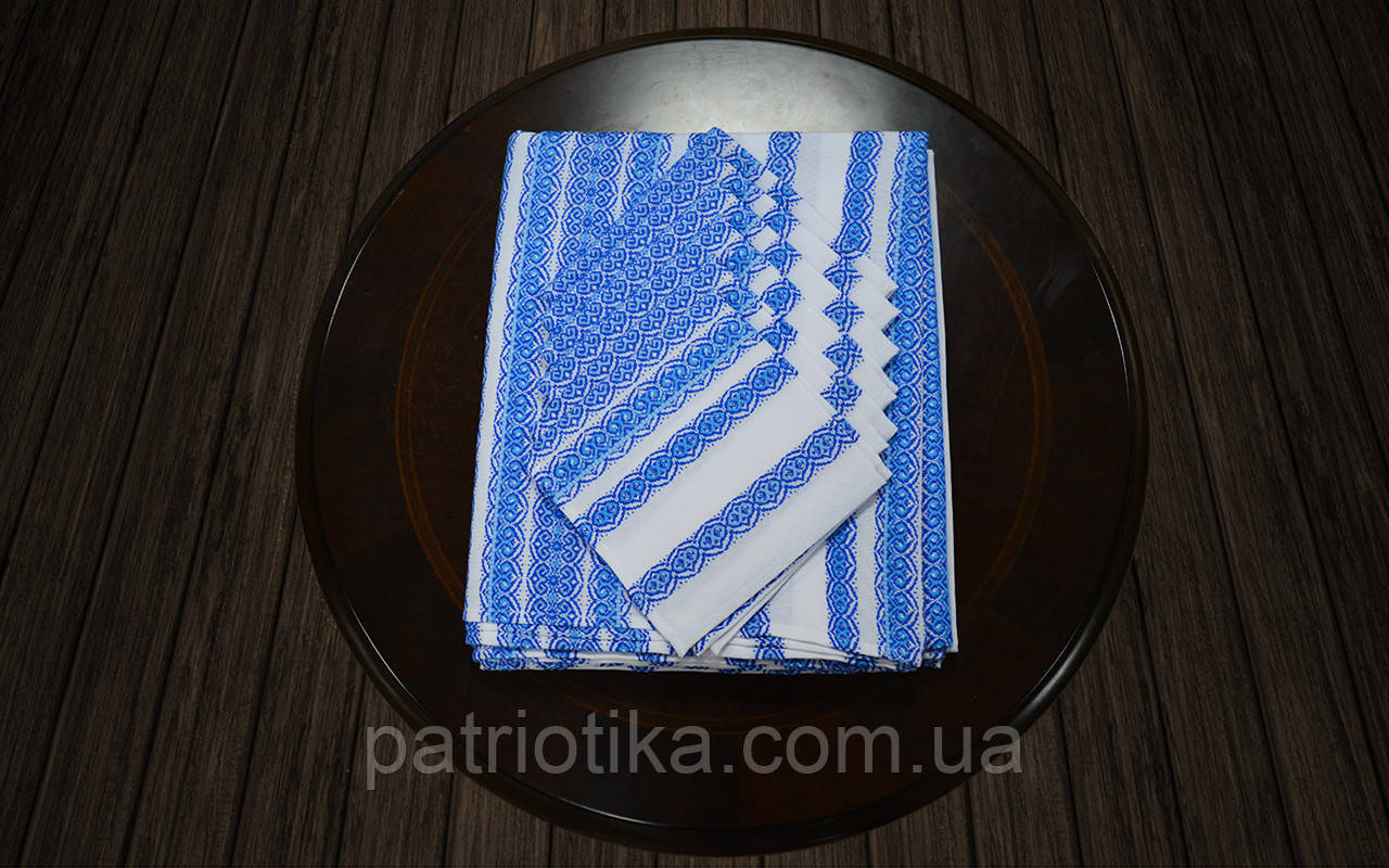 Комплект столовый голубой   Комплект столовий голубий 230х140